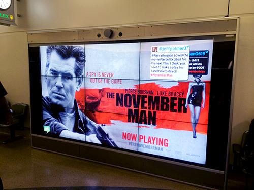 Videowall para aeropuertos