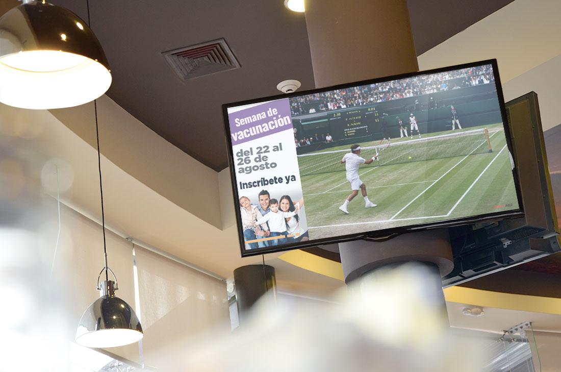 Señalización digital en interiores de Restaurantes