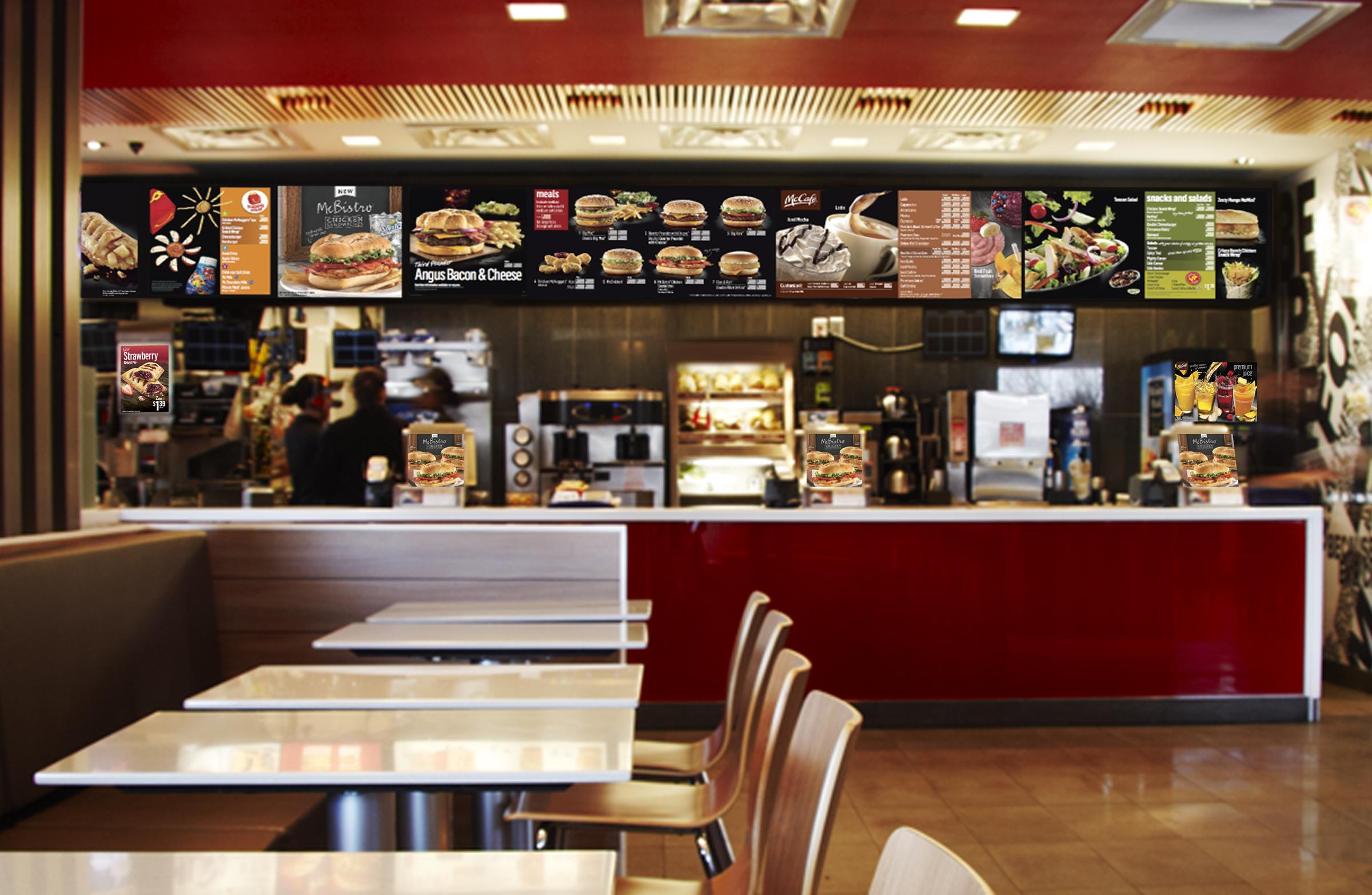 Señalización digital informativa en restaurantes