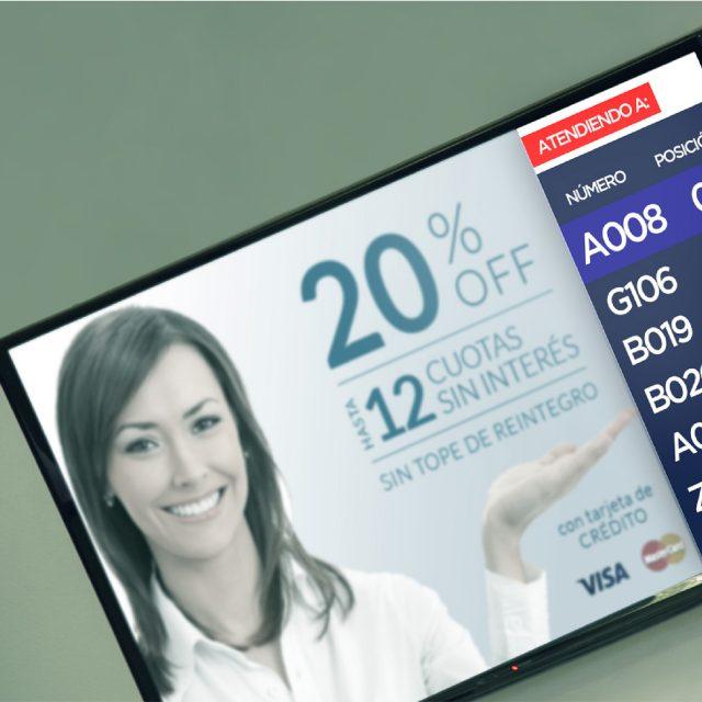 Control de filas con pantallas digitales, Costa Rica