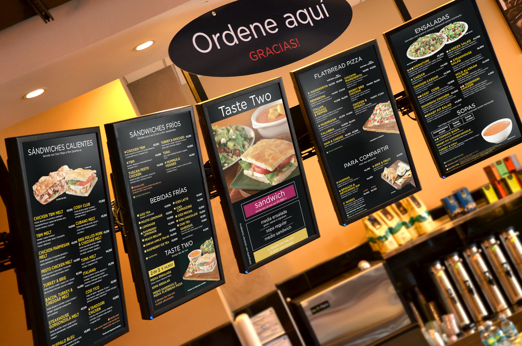 Cartelera digital para restaurantes