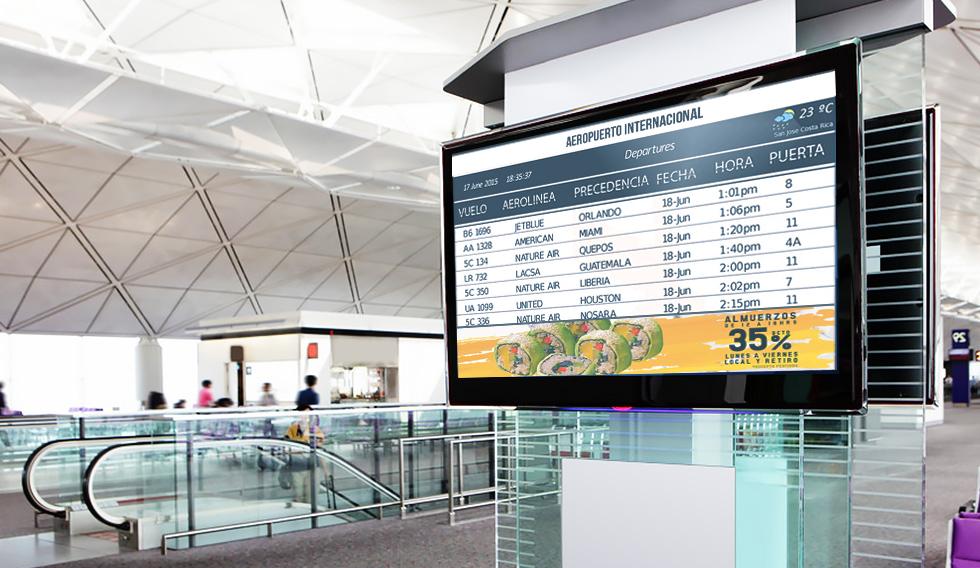 Señalización Digital en Aeropuertos